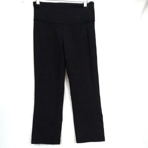 lululemon athletica Pants - Lululemon black Capri leggings with slit size 2